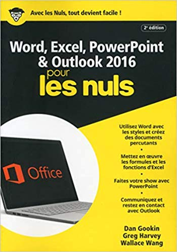 N°1 des ventes sur Amazon.fr: Word, Excel, PowerPoint et Outlook 2016 pour les Nuls mégapoche